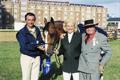 RDS Dublin Horse Show 2000, Samsung Presentation, Jessica Kurten with husband Eric and Father George.