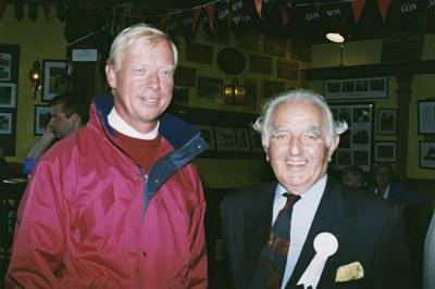 RDS Dublin Horse Show 2000, Ronnie Masserella and Rob Hoekstra, Past and Present Chef D'Equippe's Great Britain Show Jumping Team.